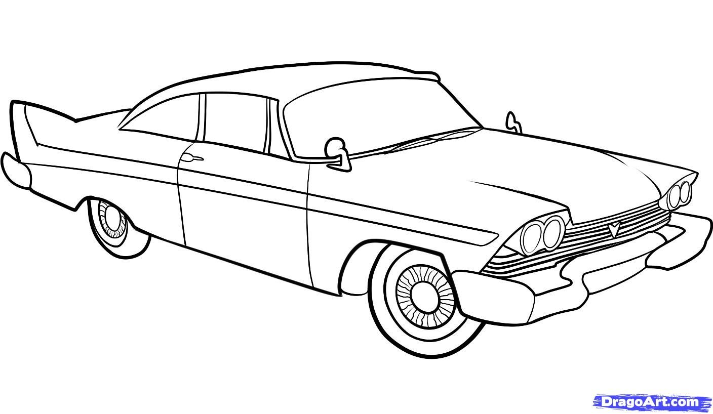 coloring pages old schoolhouse | How to Draw an Old Car, Old Car, Step by Step, Cars, Draw ...