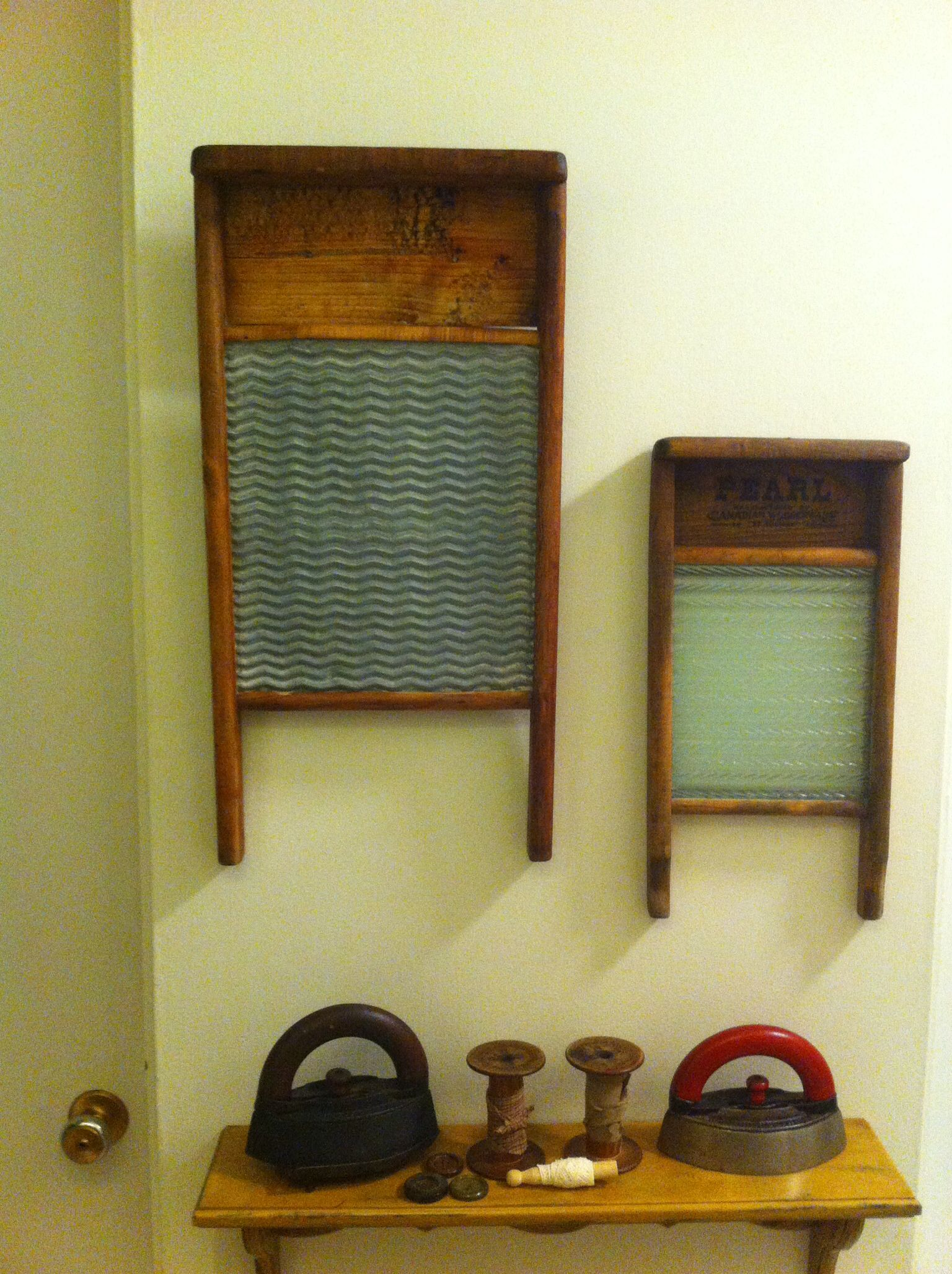 I like this idea for wall decor in the laundry room laundry