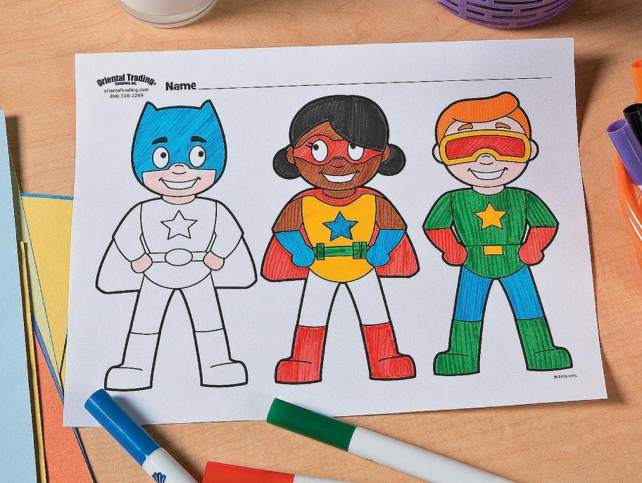Superhero Free Printable Coloring Page Idea Fun365 Superhero Coloring Pages Free Printable Coloring Pages Superhero Coloring