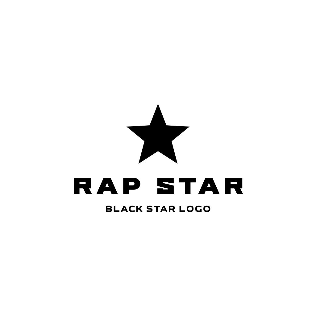 Black Star Logo Star Logo Music Logo Design Black Star
