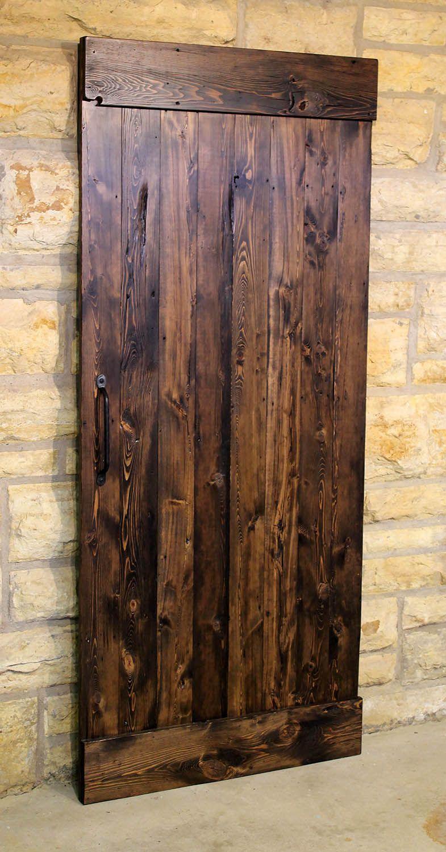 sliding barn door this barn door is by signature woods on Brown Barn Door id=80166