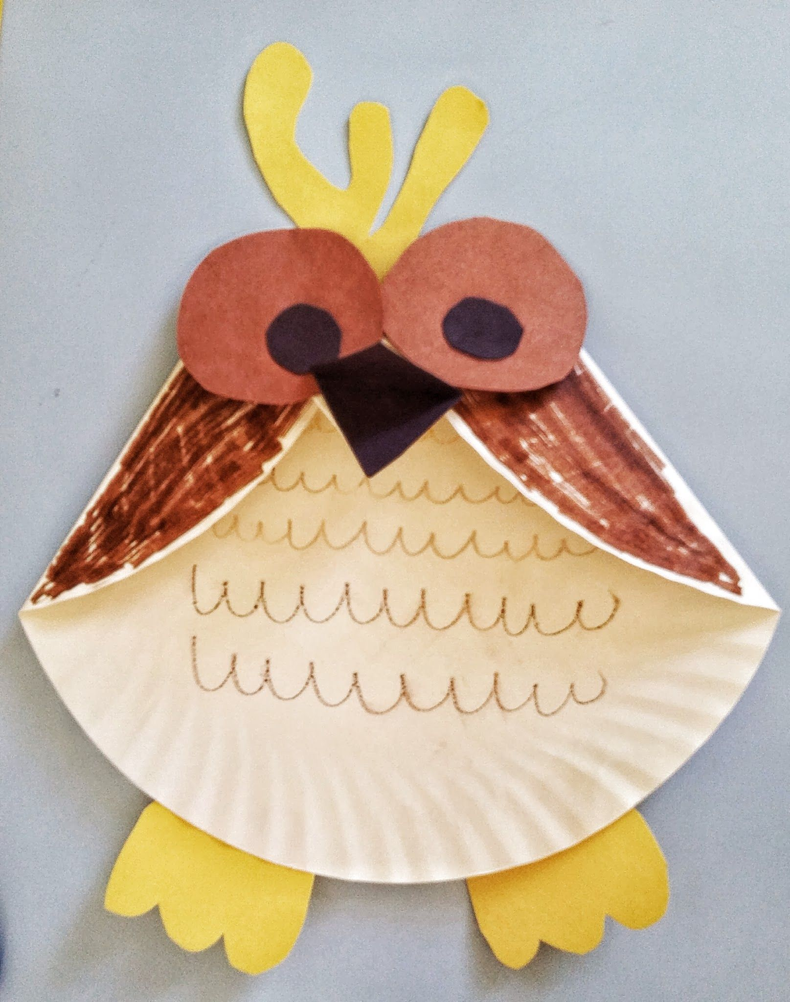 Fun activities for kids paper plate owl craft fun for Easy paper plate crafts