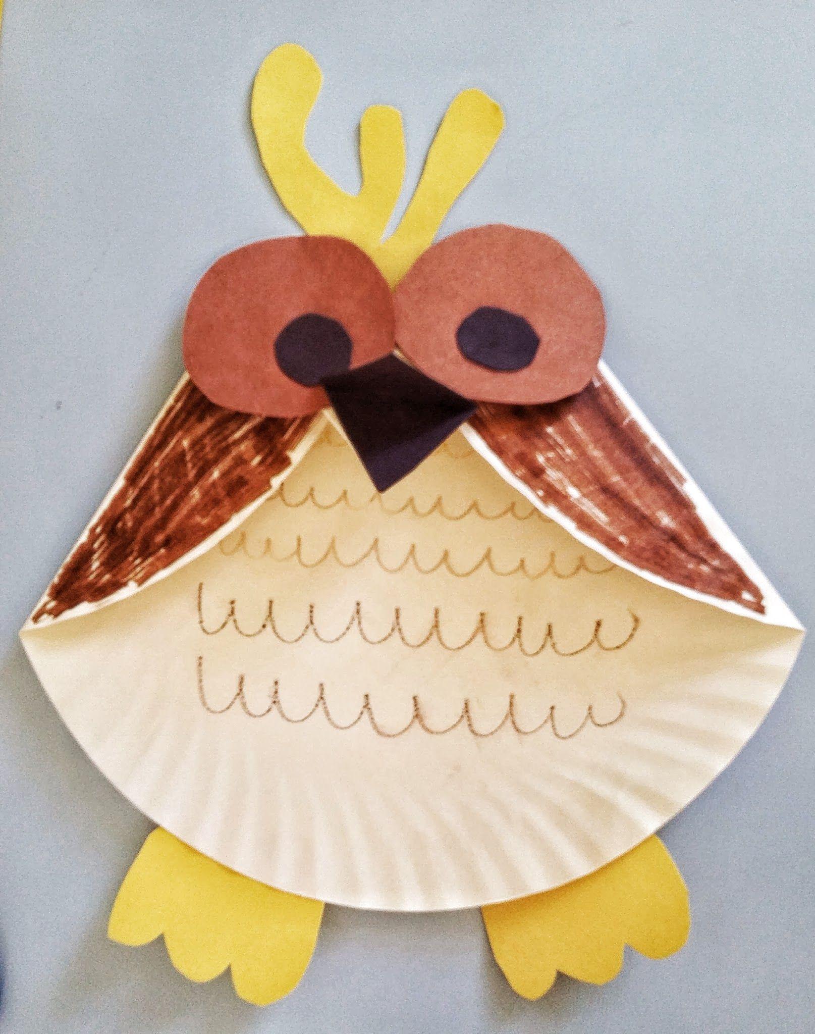 Fun Activities For Kids Paper Plate Owl Craft Fun Activities For