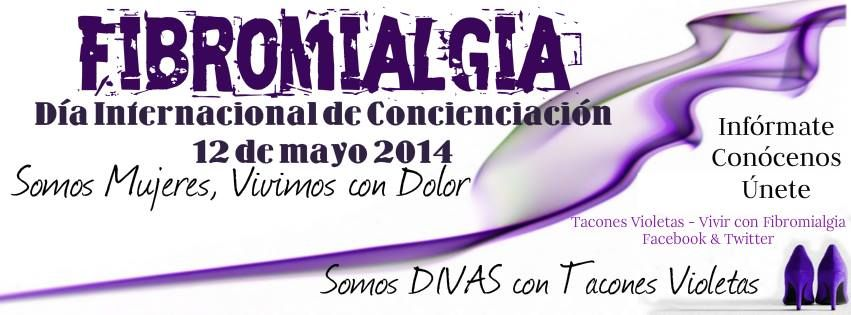 Sube tu foto Diva!  Vístete de violeta por la fibromialgia, sube tu foto y compártela con nosotros! Usa además, el #FibroDiva y #TaconesVioletas  12 de mayo 2014