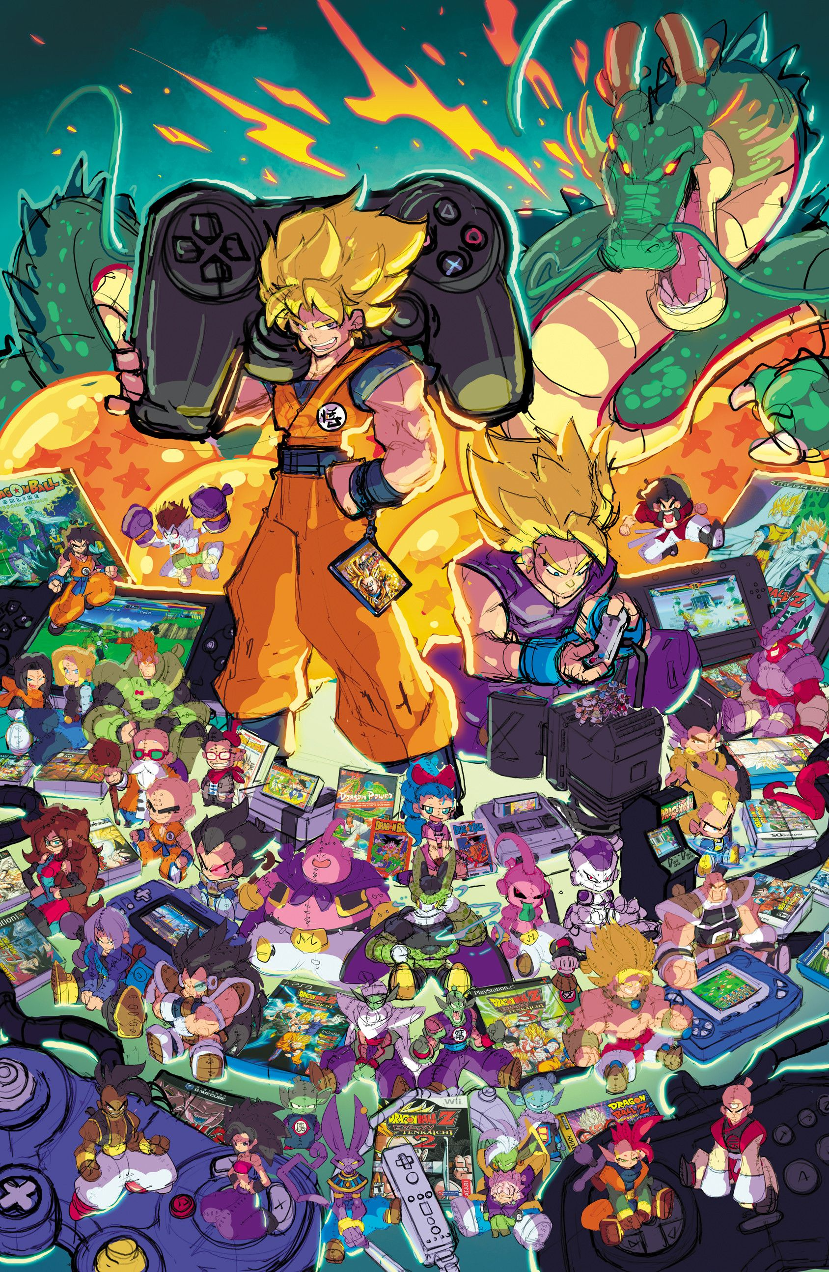 Artstation Dragonball Tribute The Game Magazine Cover Art Rob Duenas In 2020 Anime Dragon Ball Super Dragon Ball Art Anime Dragon Ball