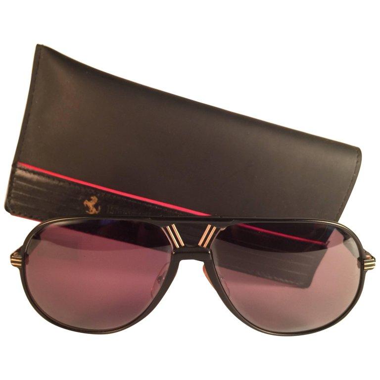 Ferrari Vintage F30 \u0026 Gold Accents 1980 Italy Sunglasses