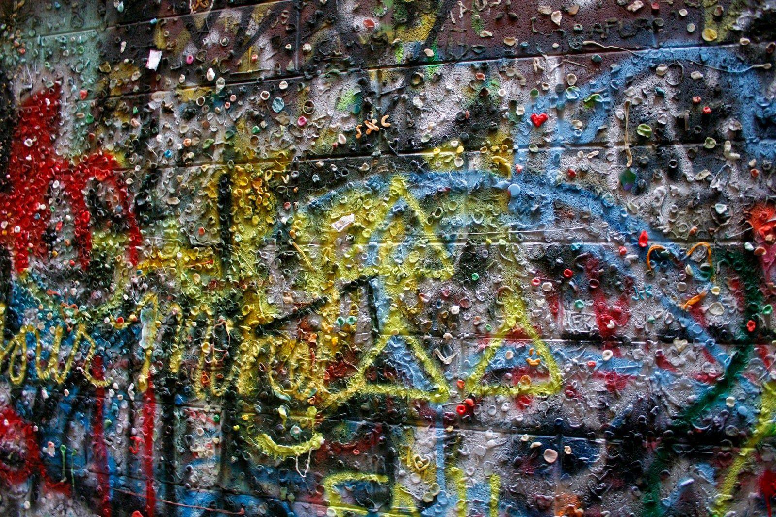 Graffiti wall ann arbor - Graffiti Gum Wall In Ann Arbor