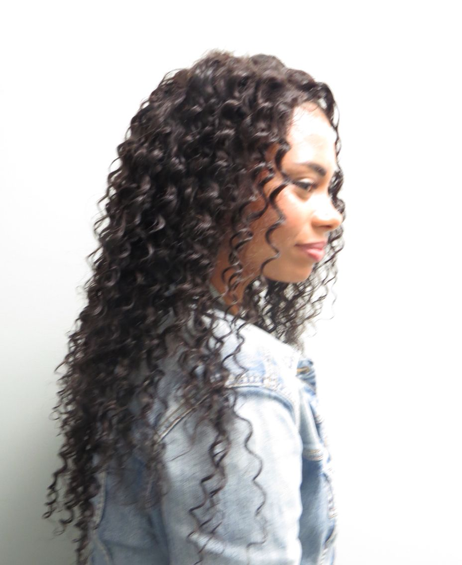 abs full head sew in weaves | naturally curly hair