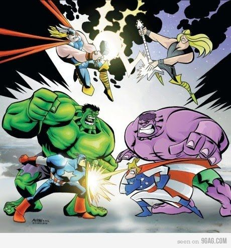 The Avengers Vs. The Justice Friends