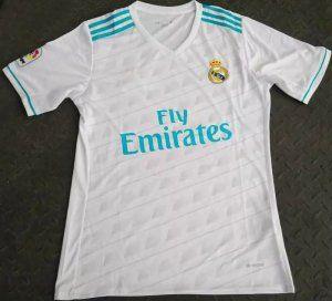 793de2d1bf915 Real Madrid C.F 2017-18 Season Home White Los Blancos Shirt Jersey  J807