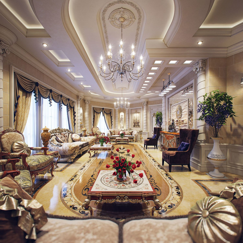 Professional luxury villa exterior designs in qatar - Luxury Villa Interior Part 2 Qatar