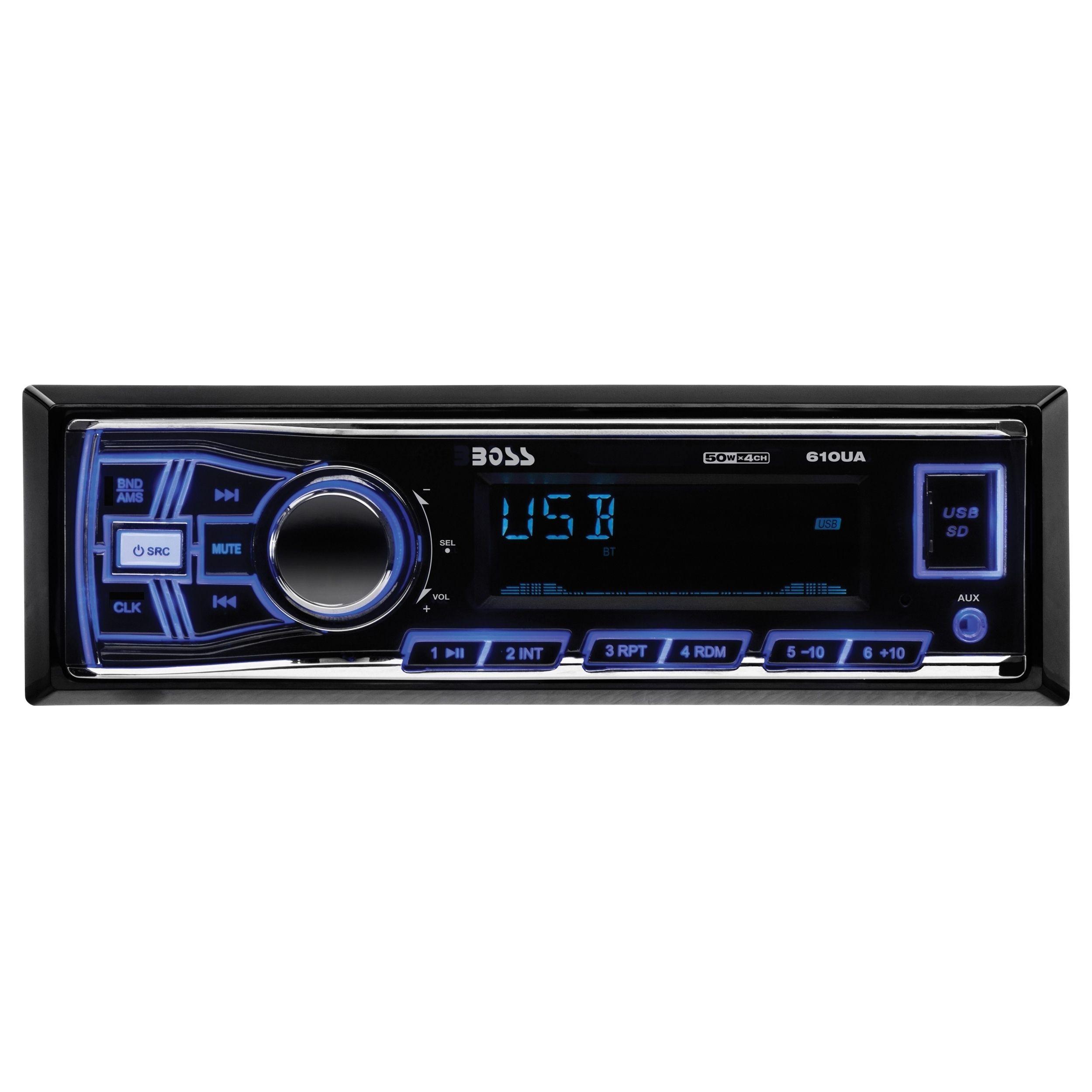 Boss audio 610ua single din mech less receiver