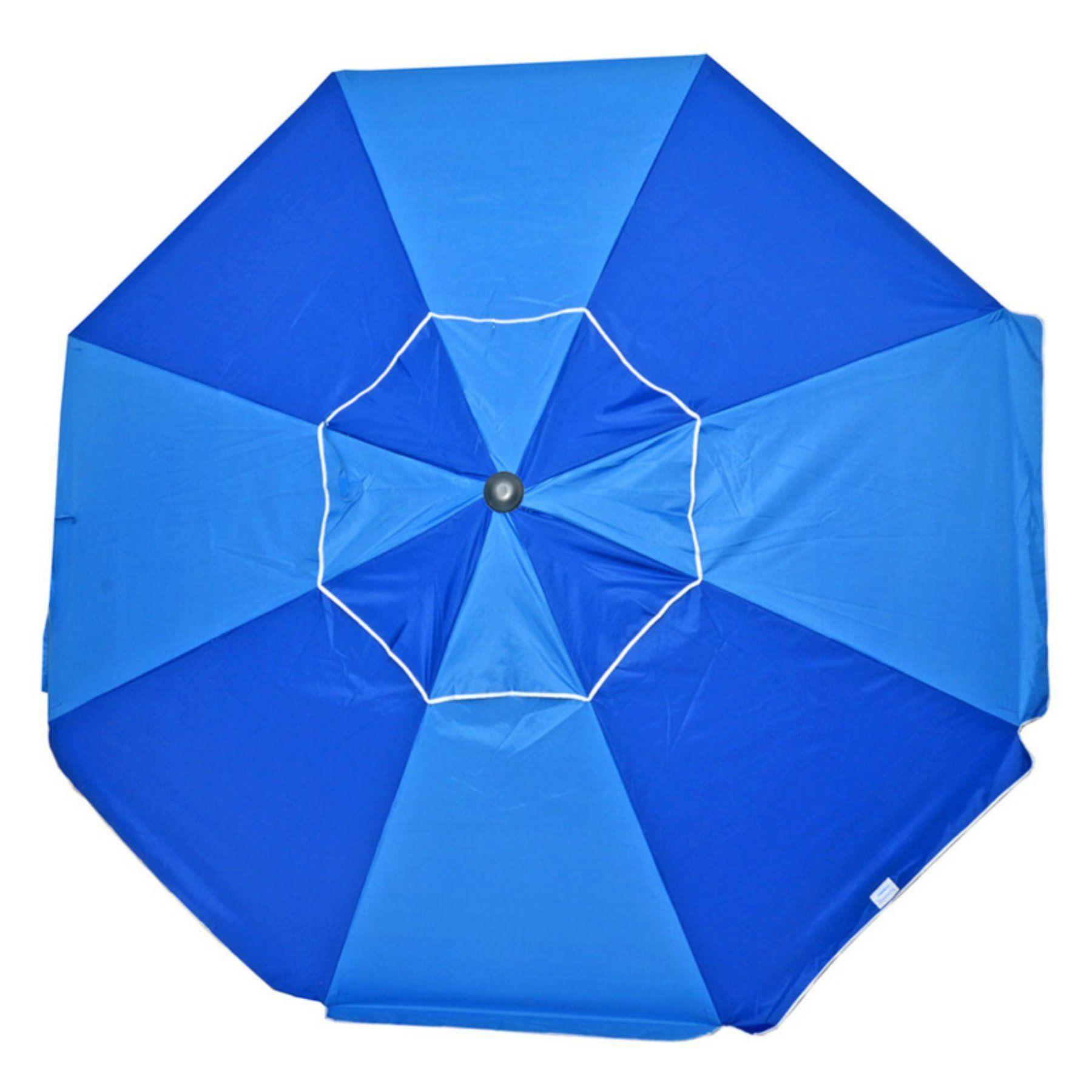 Shadezilla 9 ft Blue Pinwheel Fiberglass Market Patio Umbrella