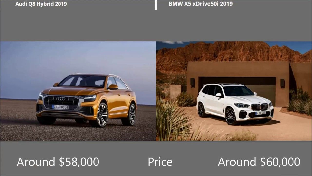 On And Offroad Audi Q8 2019 Vs Bmw X5 2019 Comparison Suvdrive Com