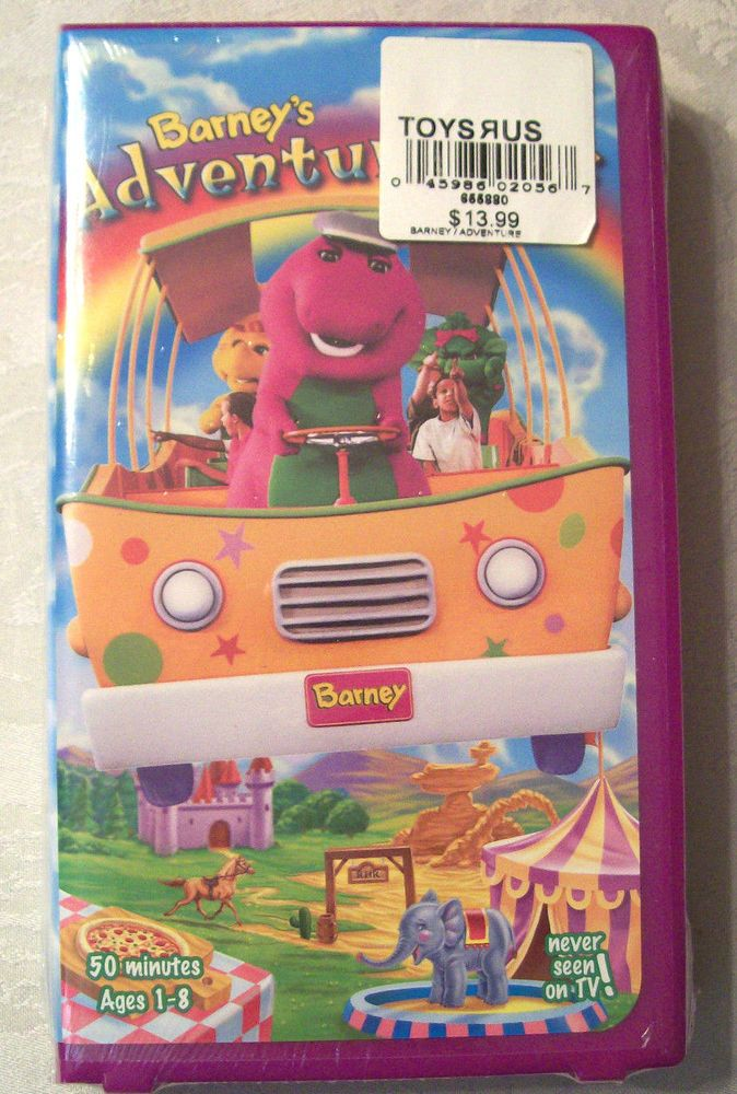 New Barney Barney S Adventure Bus Vhs Movie Ages 1 8 Clam Shell 17 Songs Sealed Dora And Friends Barney Friends Barney