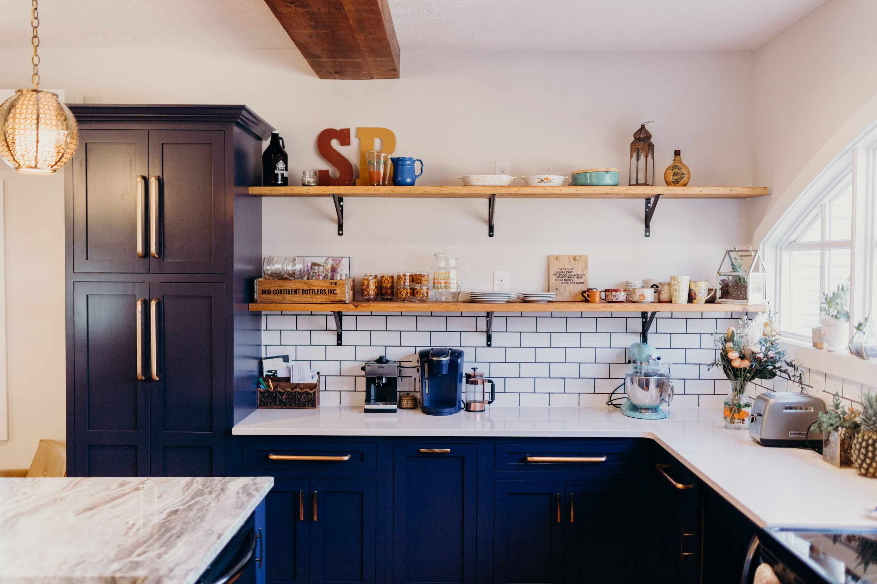 Reclaimed Wood Open Shelves Reclaimed From Original Floor Joists Used In This Home Remodel Open Shelving Home