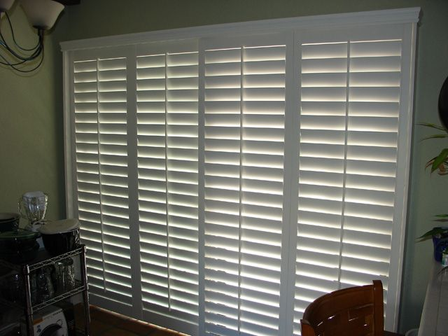 Bypass Shutters Are Ideal For Arcadia Sliding Glass Door