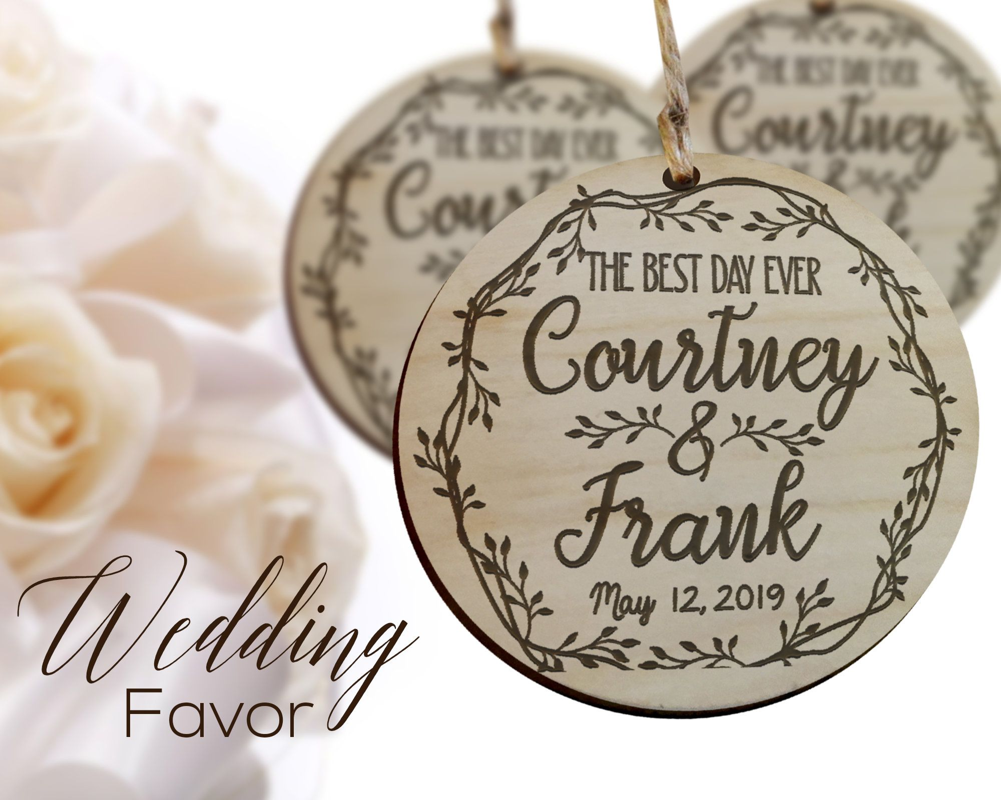 Best Day Ever Wedding Favor Wedding Favor Ornament Rustic Etsy Rustic Wedding Favors Bulk Wedding Favors Coffee Wedding Favors