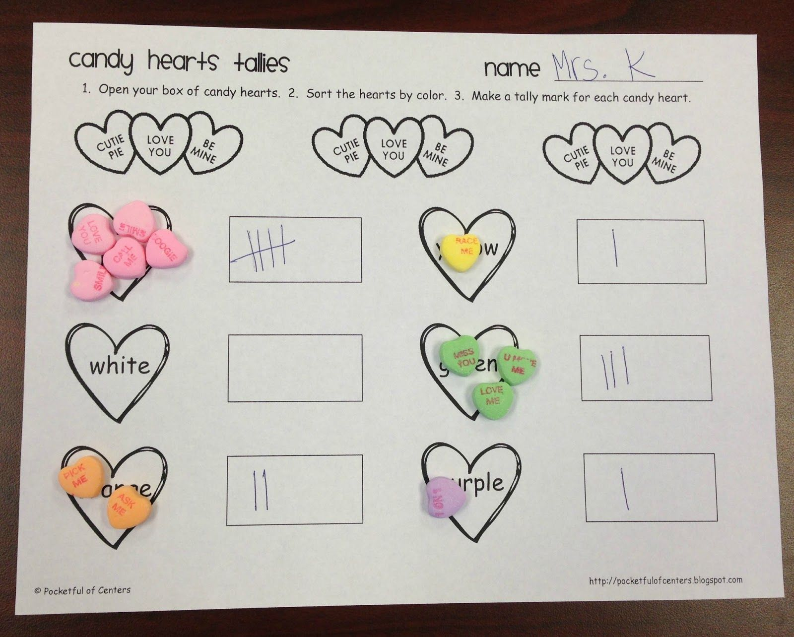 Conversation Heart Free Activity