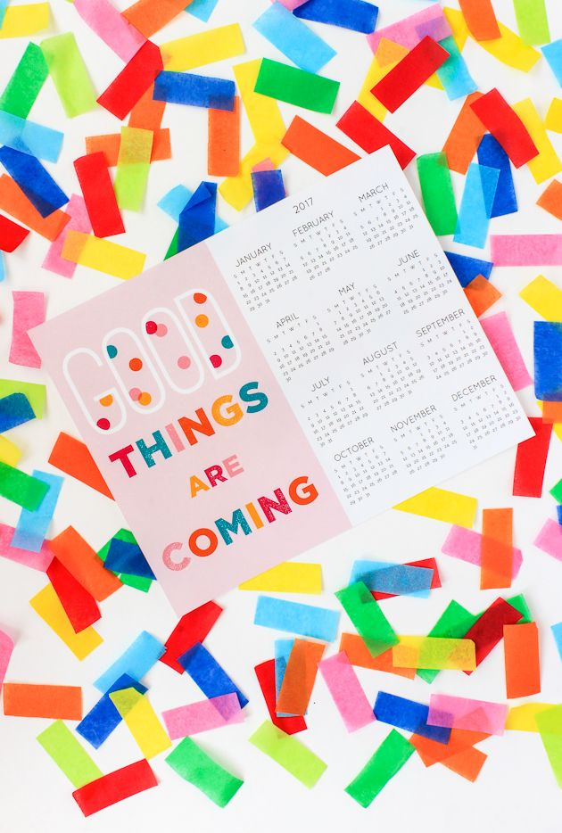 2017 Calendar Free Printable Free printable, Free printables and
