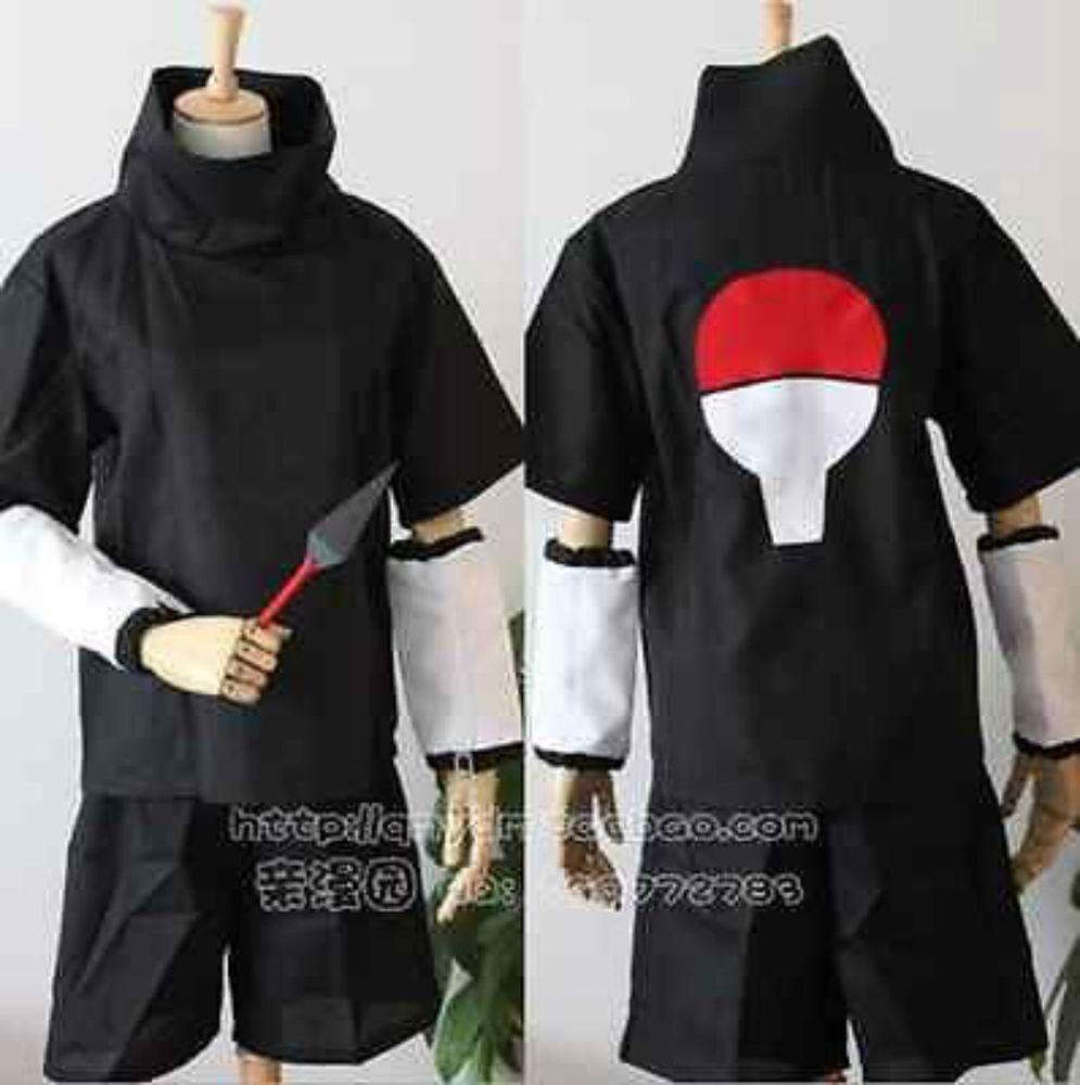 @@@ 2nd Arc Cosplay Costumes Manga Sasuke Uchiha (Pants+Shirt Only) @@@ #NEW #Dress