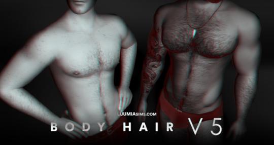 L U U M I A S I M S Body Hair Sims 4 Body Hair Body