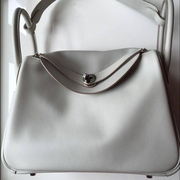 c27bc00d5eef Hermes Lindy 30 Gris Perle swift Hermes Super Hard to find Lindy in size 30  cm