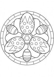 easter egg mandala coloring page KOLOROWANKI Pinterest Mandala