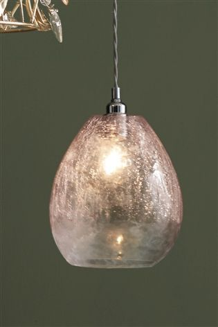Buy Pink Ombre Glass Crackle Easy Fit From The Next Uk Online Shop Bedroom Ceiling Light Ceiling Lights Kitchen Ceiling Lights