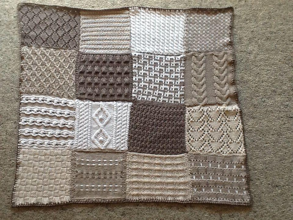 Sampler Afghan Knit Pattern By Red Heart Design Team Knitting
