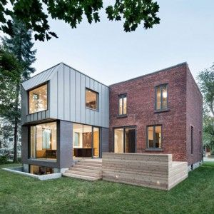 Steel Cladding Frames An Offset Window At Montreal House Extension By Naturehumaine Architecture Architecture House Architecture Design