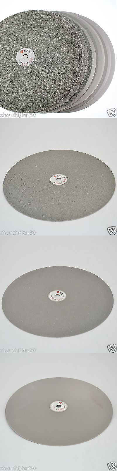 Glass Grinding 116644: 3Pcs 14 Inch Grit 80 240 600 Diamond Coated Flat Lap Disk Grinding Polish Wheel -> BUY IT NOW ONLY: $206.99 on eBay!