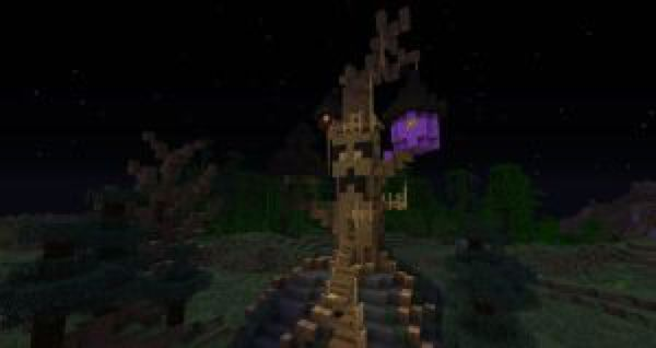 Minecraft: Halloween Town Boogie's treehouse by Sherio88 on @DeviantArt