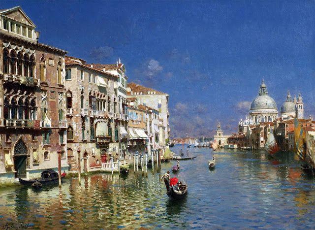 Rubens Santoro 1859 1942 Le Grand Canal Venise Avec Images