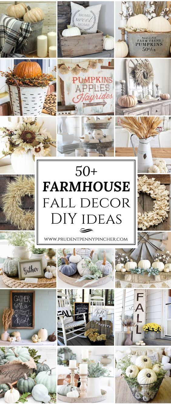 65 Farmhouse Fall Decor Ideas