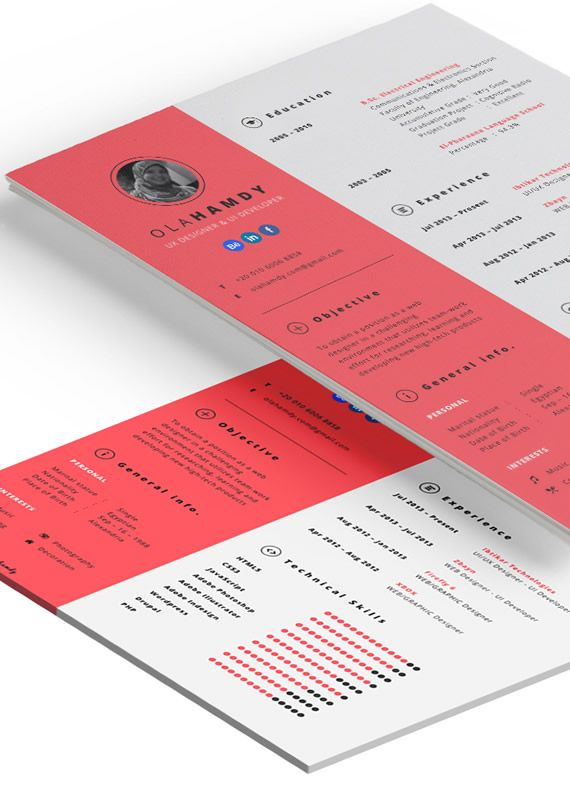 Plantilla de curriculum vitae para InDesign | UI | Pinterest ...
