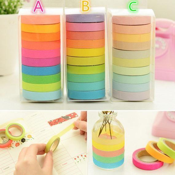 Cute Rainbow Color Japanese Angoo Masking Tape Series 7 5mm Wide