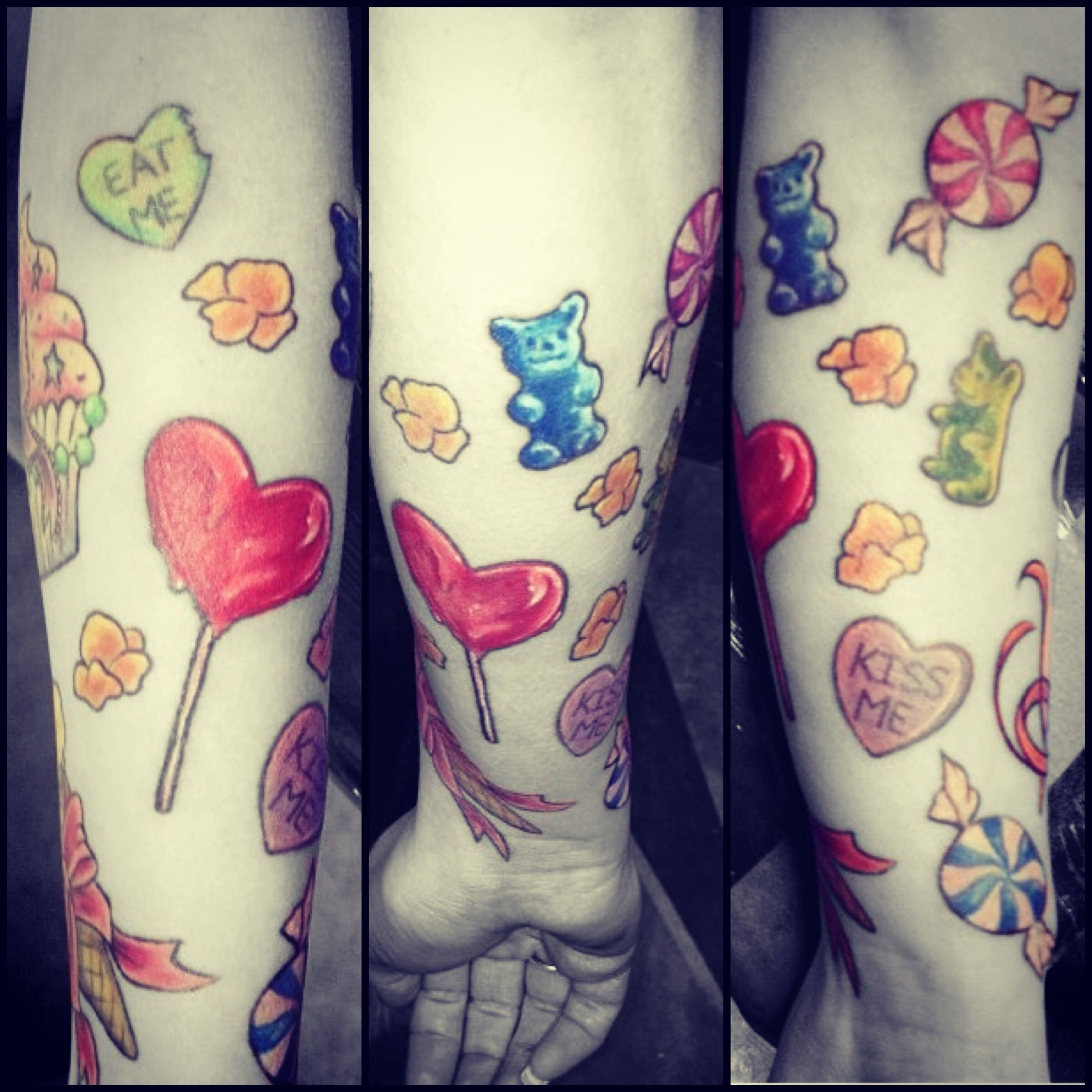 Tattoos candy sleeve colors My tattoo | Tattoos; | Tattoos, Candy ...