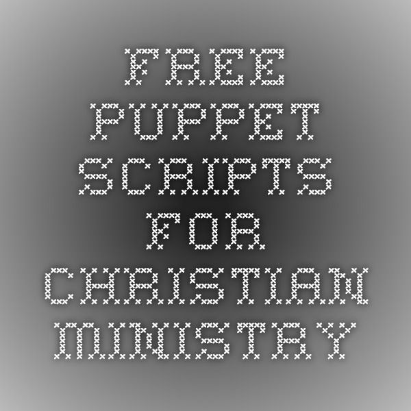 free puppet scripts for sunday school