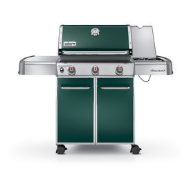 Weber Genesis E 320 3 Burner Green Gas Grill 6527001 Grilling Propane Gas Grill Gas Grill Reviews
