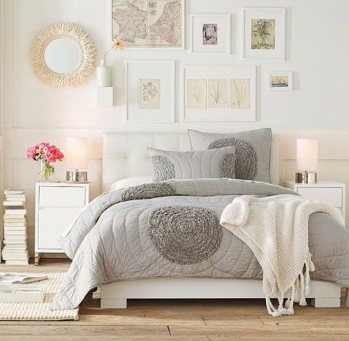 White Cream Walls With Grey Bedding Light And Bright Followpics Co