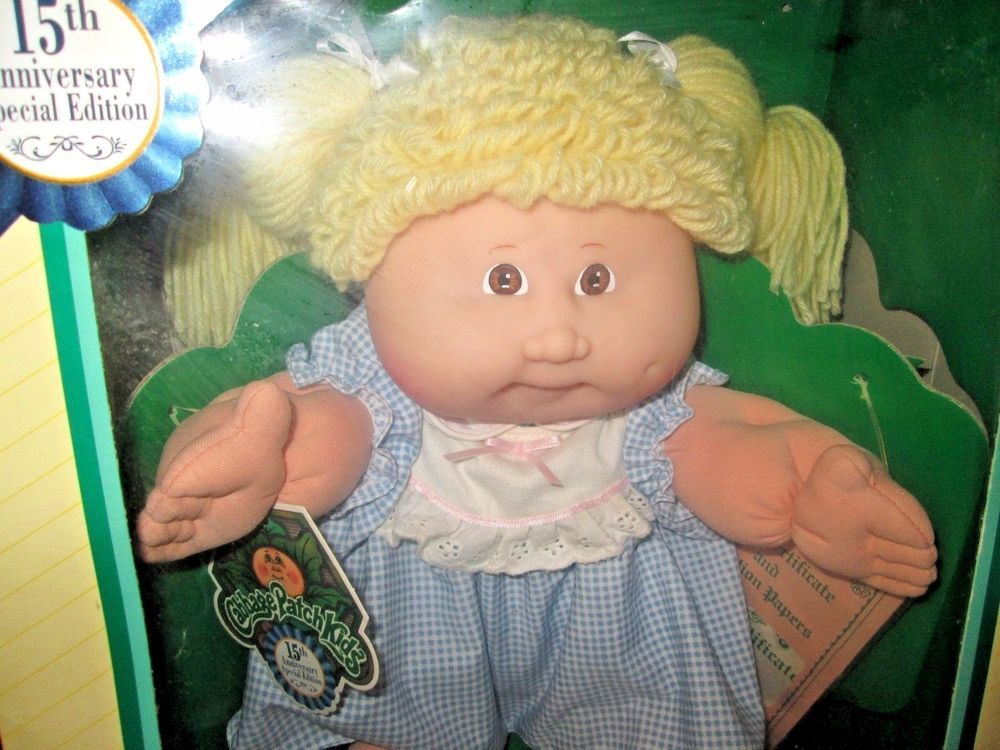 Cabbage Patch Kids 16 15th Anniversary Special Edition Doll 1983 Commemorative Cabbage Patch Kids Patch Kids Cabbage Patch