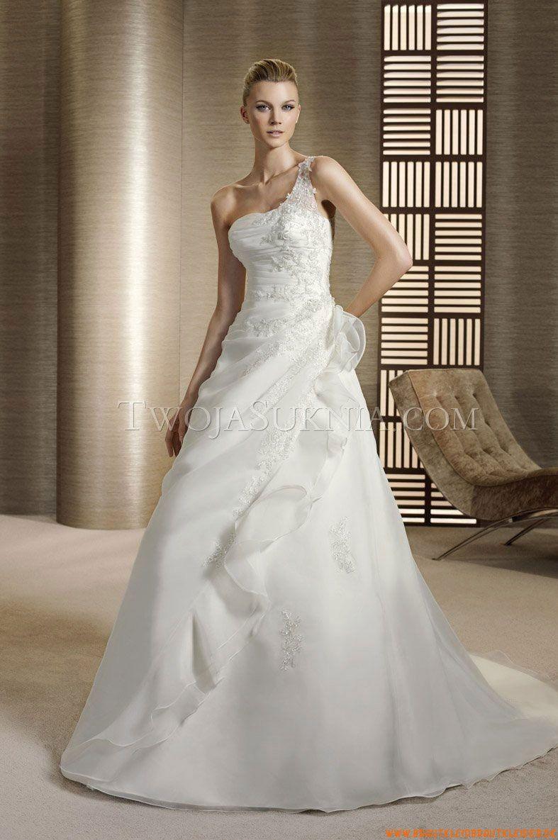 A-Linie Preiswerte Brautkleider 2014 aus Organza mit Applikation ...