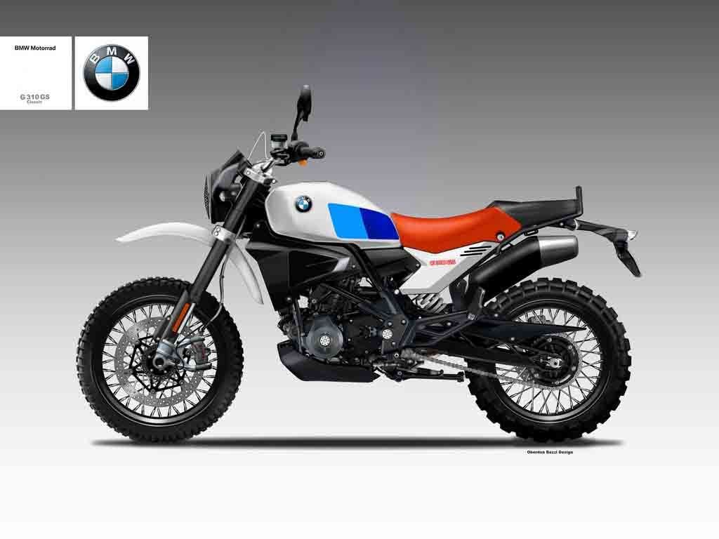The Bmw G310 Gs Classic Concept Shows A Possible Aggressive