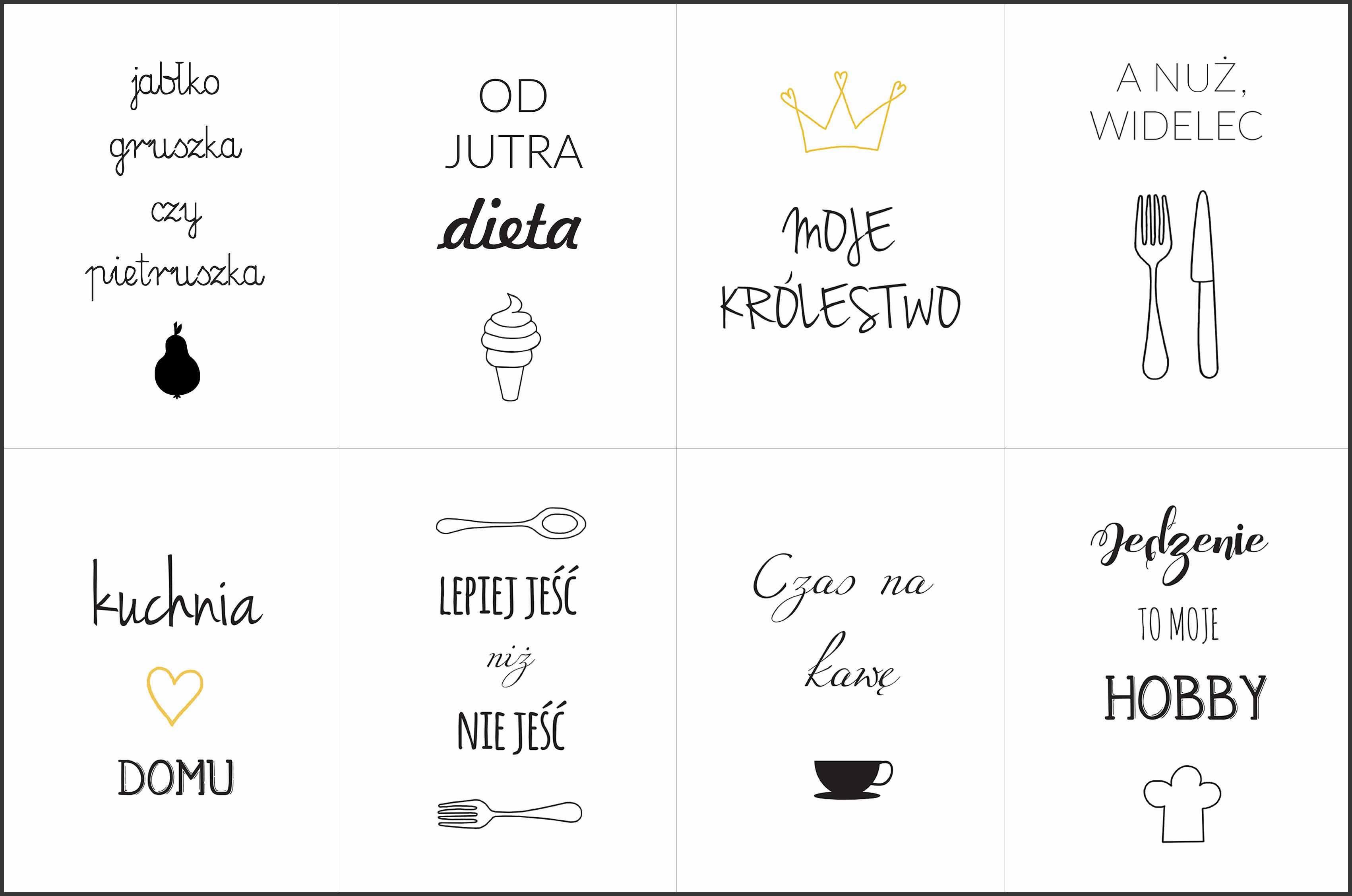 Kuchenne Plakaty Do Druku Lettering Words Inspirational Quotes
