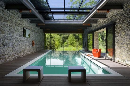 indoor outdoor pool house. 43 Superb Interior Design Examples For Inspiration. Indoor Swimming PoolsSwimming Pool Outdoor House