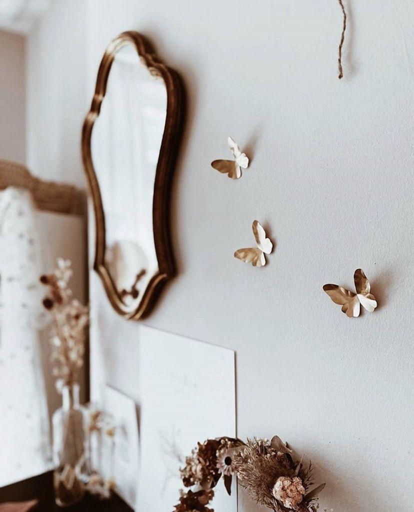 Lidor Messing Vlinder Muurdecoratie Walldecor Butterfly Manawea Messing Decoratie Muurstickers