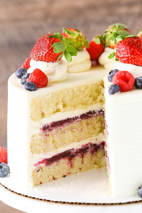 Berry Mascarpone Layer Cake | The Best Fruitcake Recipe