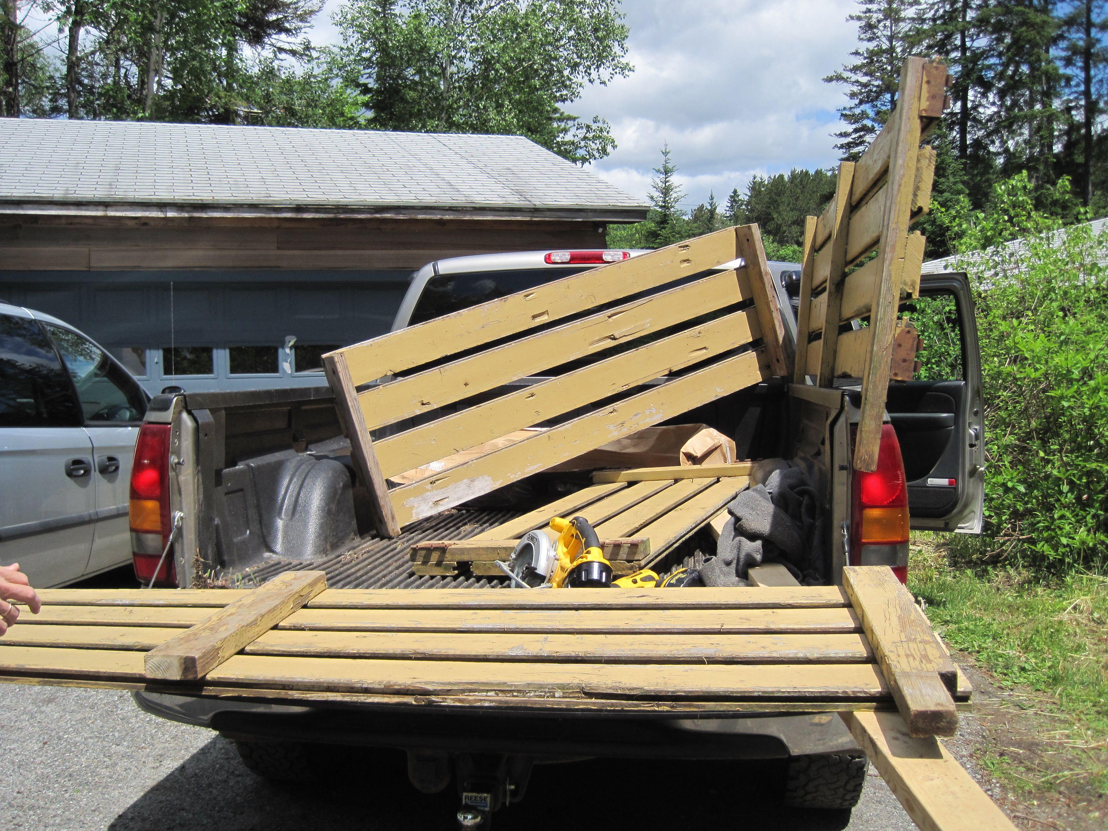wooden rack for pickup truck
