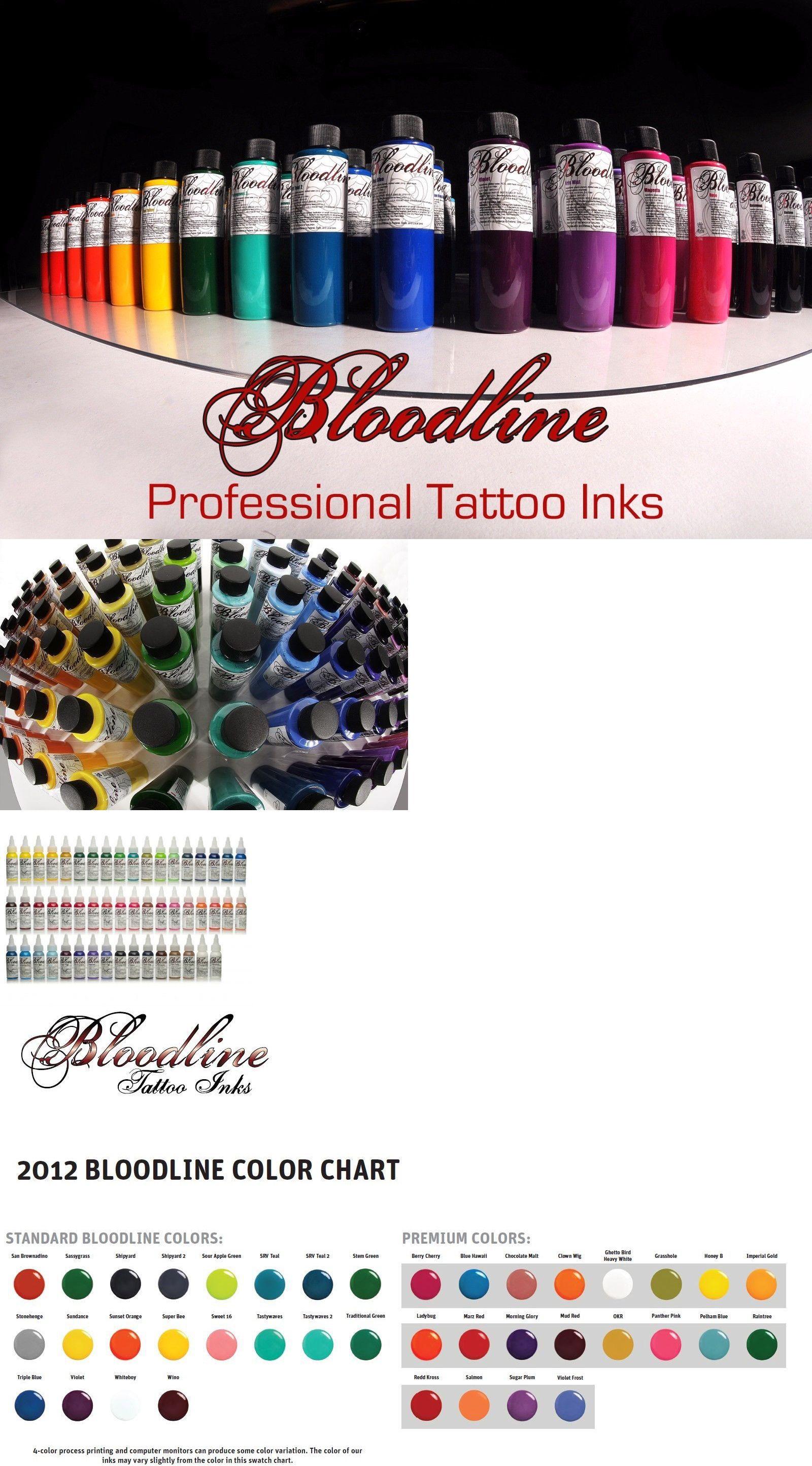 Bloodline Tattoo Ink Color Chart Vivostar